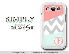 Samsung Galaxy S3 Case  Samsung Galaxy SIII Case by simplymonogram, $16.99
