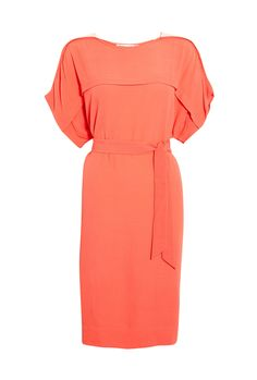 Tie-Waist Crepe Tunic Dress by See by Chloe