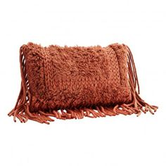 Wool cushion cover w/ fringes Moving Furniture, Kare Design, House Doctor, Deco Design, Rust Color, Soft Furnishings, Home Textile, Cushion Covers, House Colors