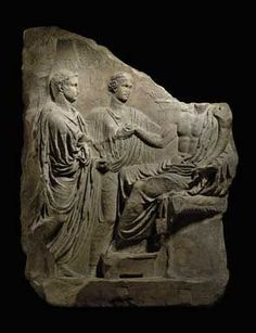 A Roman Marble Relief of the Emperor Tiberius Julio-Claudian Period, circa early 1st century A.D.