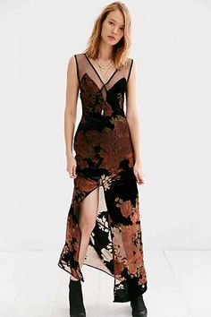For Love & Lemons Dusty Rose Maxi Dress - Urban Outfitters