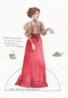Jeff Davis Illustration - This doll is based on the character in Oscar Wilde's The Importance of Being Earnest.