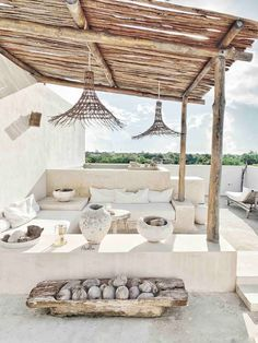 Outdoor Spaces, Outdoor Living, Rooftop Patio, House Beds, Exterior Design, Tulum, Sweet Home, New Homes, House Design