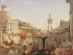 Thomas Cole, The Course of Empire, The Consummation of Empire, 1835-36 (Part of a Series) - http://web.sbu.edu