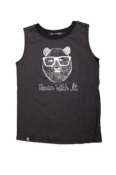 Bear with is muscle tee