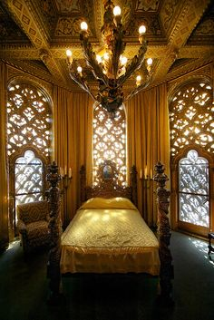 "The Celestial Suite at Hearst Castle, which Hedda Hopper (a frequent guest) once described as ""a jewel case."""