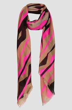Topshop Neon Zigzag Scarf available at #Nordstrom