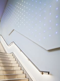 Nulty - Sailmakers Shopping Centre, Ipswich - Dynamic LED Feature Wall Staircase Clean Lines