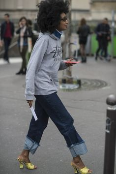 Pin for Later: The Best Street Style From All of Paris Fashion Week Paris Fashion Week, Day 4 Julia Sarr Jamois.