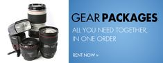 Rental Gear Packages available