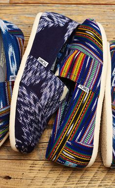 New! These limited edition Piece & Co. Classics were created by Guatemalan artisans using a hand-dyed technique known as ikat. This traditional process creates a desired pattern on the yarn before it's woven into fabric; giving these Classics a unique and colorful textile. #TOMS Give Back to School Contest