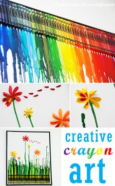 Creative @Crayola Crayon Art Project with @One Creative Housewife