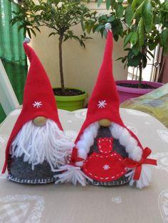 Snowman Christmas Ornaments, Burlap Christmas, Christmas Gnome, Christmas Angels, Christmas Crafts, Diy Holiday Gifts, Handmade Christmas Decorations, Felt Decorations, Diy Weihnachten