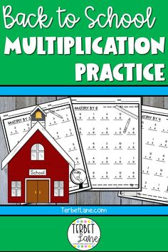 Back to School Multiplication Worksheets Printable Multiplication Worksheets, Multiplication Tables, Multiplication Practice, Back To School Activities, Math Activities, Teaching Resources, Science Resources, Teaching Ideas, Elementary Math