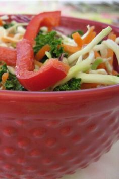 Revolutionary healthy Asian slaw, very healthy without the extra sugar!