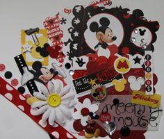 mickey mouse scrapbook | Disney Mickey Mouse Scrapbooking Scallop Mini Book DIY Kit