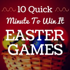 "Looking for quick ""Minute To Win It"" Easter games for your retreat, camp, or church event? We've put together a list of 10 great games for your group to enjoy."