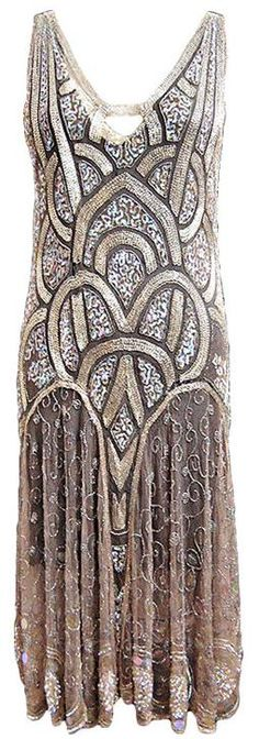 1920's, flapper's sequined dress. I would have LOved to have been a rich woman in the 1920's!