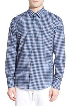Zachary Prell 'Nover' Trim Fit Plaid Sport Shirt