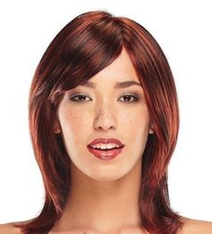 Smooth Medium hairstyles with bangs