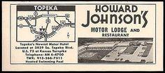 Howard Johnson Ad Motor Lodge Topeka Kansas Map 1964 Roadside Photo Ad Travel Kansas Map, Topeka Kansas, Howard Johnson's, Great Ads, Hotel Motel, Print Advertising, Vintage Advertisements, Prints, Travel