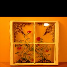 "I paint on old vintage windows.  Visit my FB page  ""Window Charm by Annalisa"""