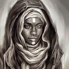 African art....... charcoal