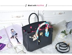 If you are looking for satchels handbag baggin' right offers the cowhide handbag, is made of genuine leather, its a Handbag for fashion, daily day work, or for My Black, Satchel Handbags, Hermes Birkin, Hot Pink, Shoulder Bag, Blog, Leather, Pink, Shoulder Bags
