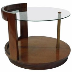 Gilbert Rohde for Herman Miller Art Deco Walnut Cocktail Table, circa 1939 Art Nouveau Furniture, Hall Furniture, Chicago Furniture, Furniture Design, Modern Dining Room Tables, Dining Set, Walnut Coffee Table, Coffee Tables, Extension Dining Table