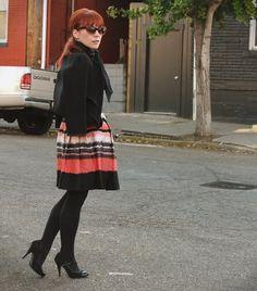 Bright skirt for winter