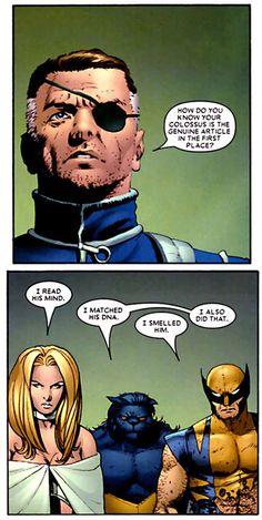 Nick Fury - From Astonishing X-Men #6 by Joss Whedon and John Cassaday. December 2004.