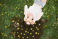 I like dandelions. Even if they're weeds, I love them.