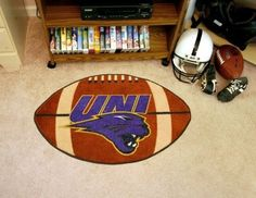 Northern Iowa UNI Panthers Football Shaped Area Rug Welcome/Bath Mat