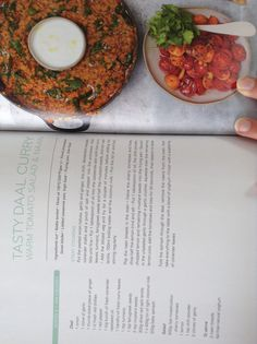 Jamie Oliver's daal curry with warm tomato salad