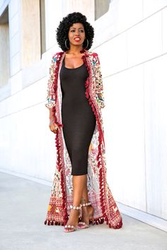 Printed wrap and bodycon dress