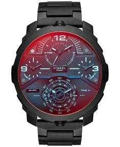 Diesel Men's Machinus Black Ion-Plated Stainless Steel Bracelet Watch 55x60mm DZ7362