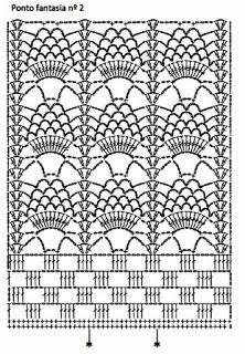 Crochet Bedspread Pattern, Crochet Curtains, Crochet Dishcloths, Crochet Borders, Crochet Stitches Patterns, Crochet Diagram, Knitting Stitches, Crochet Doilies, Crochet Lace