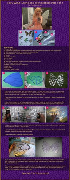 A DIY Fairy wing tutorial. It uses bristol board, organza, wire, and wonderflex. It seems easy enough can't wait to try it.