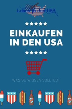 Einkaufen in den USA - Was du über shoppen in den USA wissen solltest. http://lebenindenusa.com/einkaufen-in-den-usa/ ...