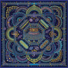 Hermes Parures des Maharajas by Catherine Baschet 90 Silk Scarf  AW 2012
