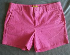 Banana Republic Milly Collection Faded Hot Pink Shorts Size 12  #BananaRepublic #KhakiChino