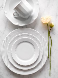 Mix and match Pillivuyt Eclectique Dinnerware & Textured Dinnerware Set - White | ORCHARD RD: Dining/Kitchen by ...