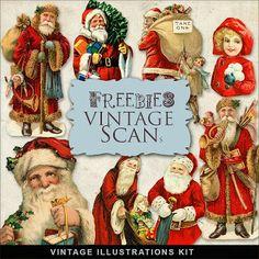 Scrapbook Christmas Vintage free illustrations by farfarhill Vintage Christmas Images, Christmas Pictures, Christmas Art, Christmas Stuff, Christmas Ideas, Mary Christmas, Country Christmas, Vintage Images, Christmas Holidays
