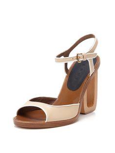 Wooden High Sandal