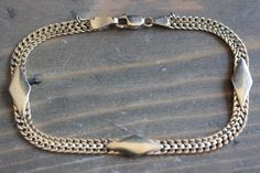 Vintage Heavy 14k Yellow Gold Woven Bracelet Made in Italy 7 3/8 inch