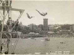 Photographic Print: The Diving Tower and Harbour Pool, Manly Poster : – 2020 World Travel Populler Travel Country Bronte Beach, Terra Australis, Sydney Beaches, Manly Beach, Sydney Australia, Aerial View, Old Photos, Diving, Surfing