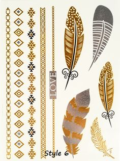 Coachella has me wanting all the metallic tattoos I can get my hands on! Only $2.99 each!