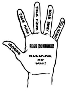 Possible idea: have girls trace hands and list ways of stopping bullying Bullying No Way, Anti Bullying Week, Anti Bullying Activities, Bullying Lessons, Ways To Stop Bullying, Bullying Posters, Behaviour Chart, Behavior, Bullying Prevention