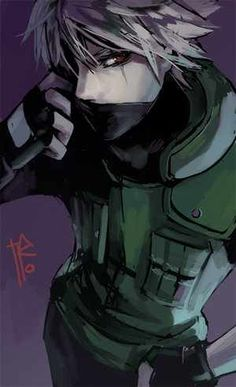 Naruto ~ Kakashi Hatake. This is probably the fanart I like the most of him, he's soo amazing ♥