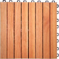 Create a zen, outdoor living space with these stunning interlocking deck tiles. Constructed from gorgeous eucalyptus wood that emits simplicity and elegance, your patio will be put together in no time thanks to the easy snap-and-click construction